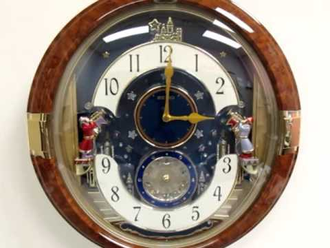 Qxm228brh Seiko Melodies In Motion Clock Dropping Dial