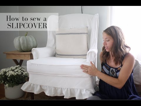 How to Slipcover a Wingback Chair