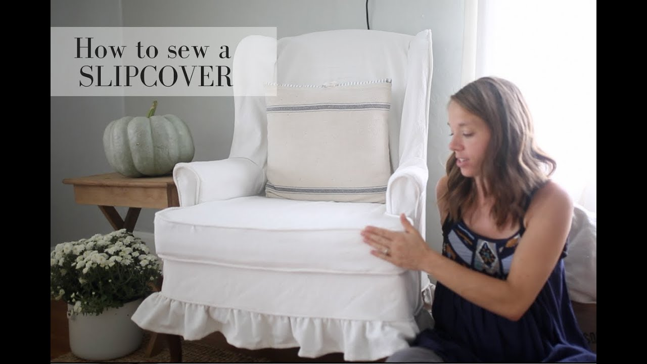 How To Make Slipcover For Wingback Chair Swivel Amazon Uk A Youtube