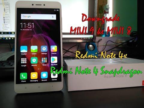 cara-downgrade-miui-9-ke-miui-8-redmi-note-4x/-redmi-note-4-snapdragon