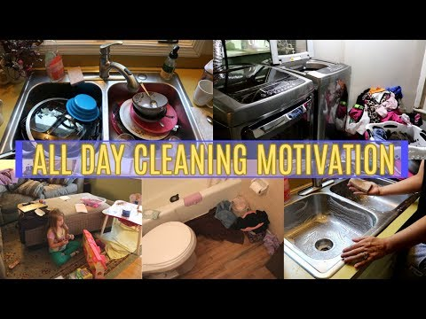 ALL DAY CLEAN WITH ME! ULTIMATE CLEANING MOTIVATION FOR A MESSY HOUSE | MOM LIFE 2019