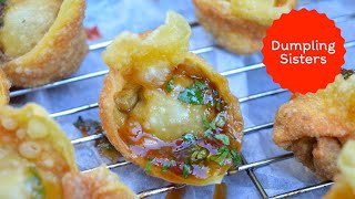 Fried Wontons with Sweet and Sour Sauce | DUMPLING SISTERS