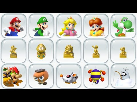Super Mario Run - All Statues, Characters & Decorations Unlocked (Complete Notebook Tour)