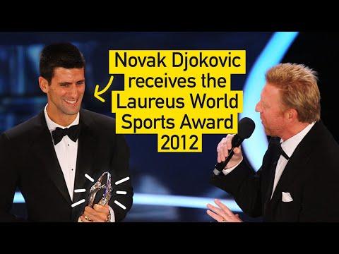 Novak Djokovic receives the Laureus World Sports Award 2012