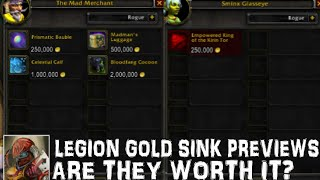 WoW Legion Gold Sink Previews - Are They Worth It? - Mad Merchant - Kirin Tor Ring
