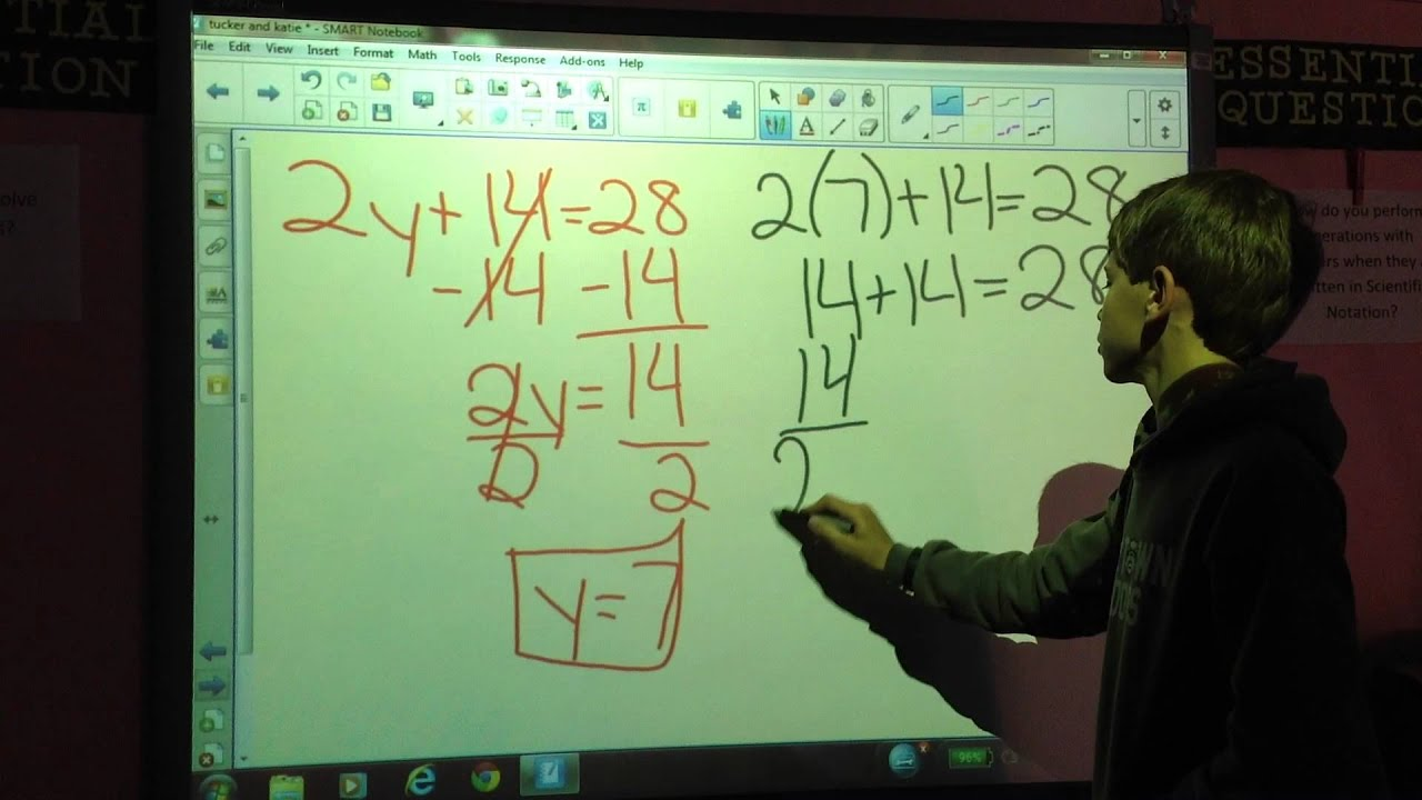 Solving Two Step Equations 8th Grade Math Connections