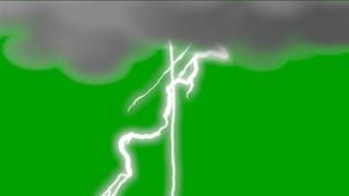 Boom! Storm & Lightning Green Screen Sound Футаж Гроза и Молния Звук Хромакей
