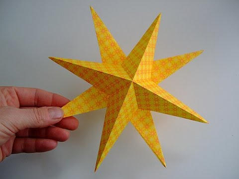 How to make lucky 3d paper stars origami stars easy for How to make 3d paper stars easy