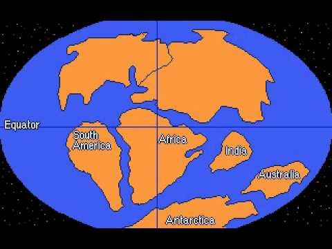 The Pangaea Theory Or An Expanding Earth YouTube - Pangaea map