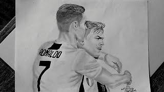 Desenhando Cristiano Ronaldo e Dybala (Drawing)