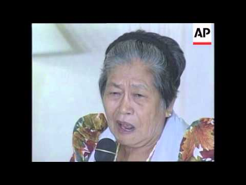 PHILIPPINES: WOMEN RECEIVE LETTERS OF APOLOGY FROM JAPAN