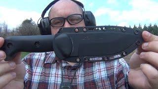 Kabar Becker Bk2 Vs. 380acp Pistol (kel-tec P-3at)