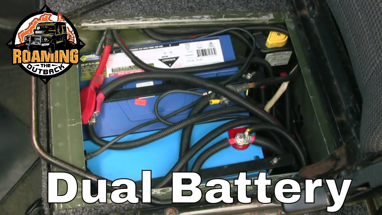 4x4 dual battery system installation