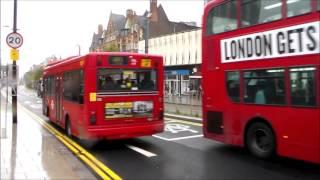 Buses and trams in George Street, Croydon 05/10/2015