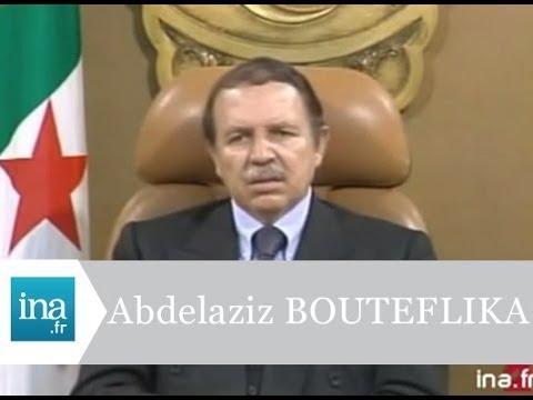 """Abdelaziz Bouteflika """"j'ai besoin du soutien populaire pour avancer""""  - Archive INA"""
