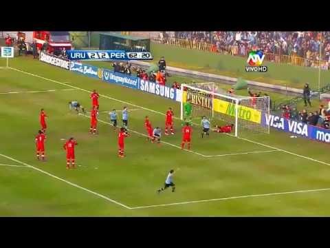 Uruguay 4 vs Peru 2  eliminatorias 2012 HD
