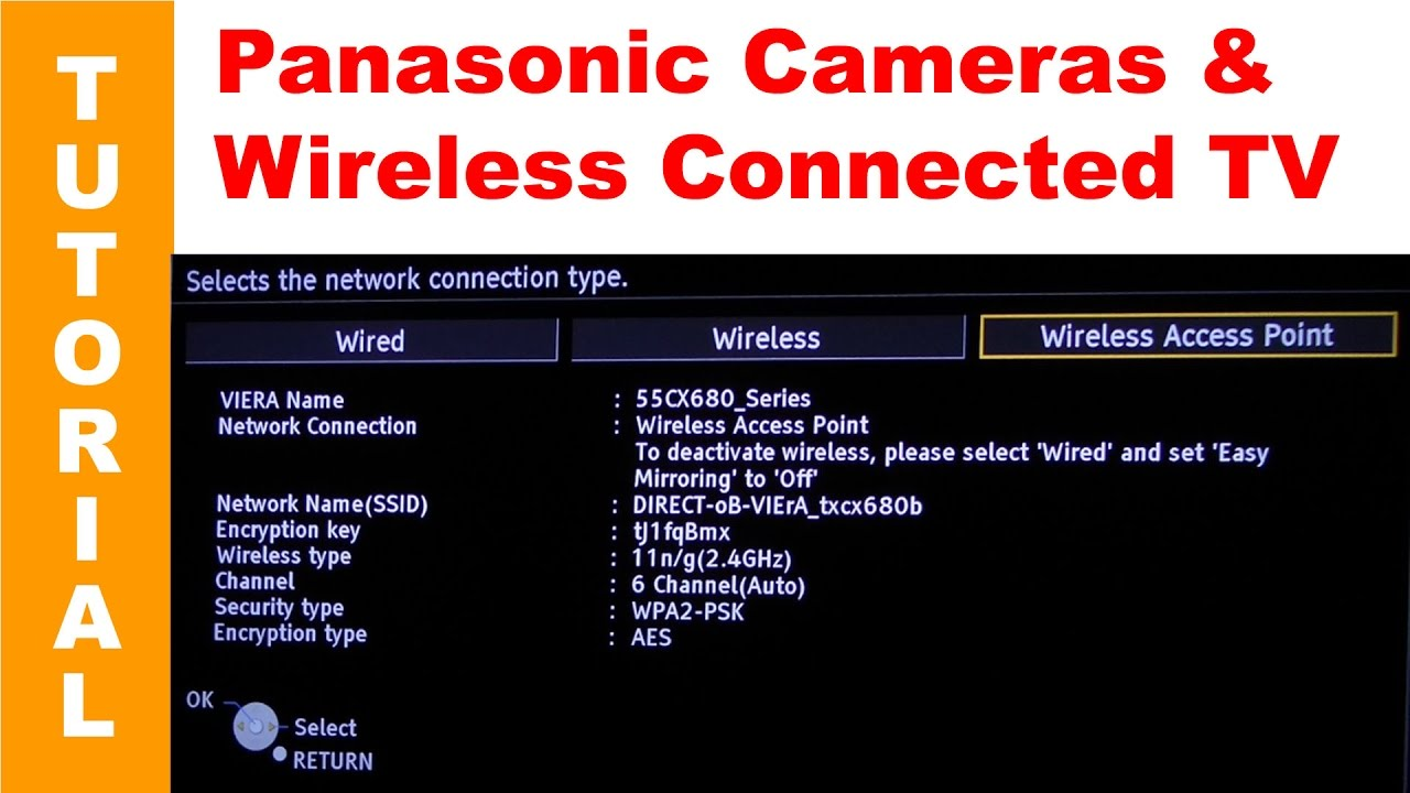 Connecting Panasonic Lumix Wireless Enabled Cameras to