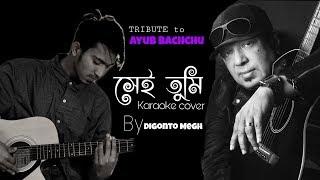 Sei tumi | karaoke song | Covered by digonto megh | Tribute to Ayub Bachchu