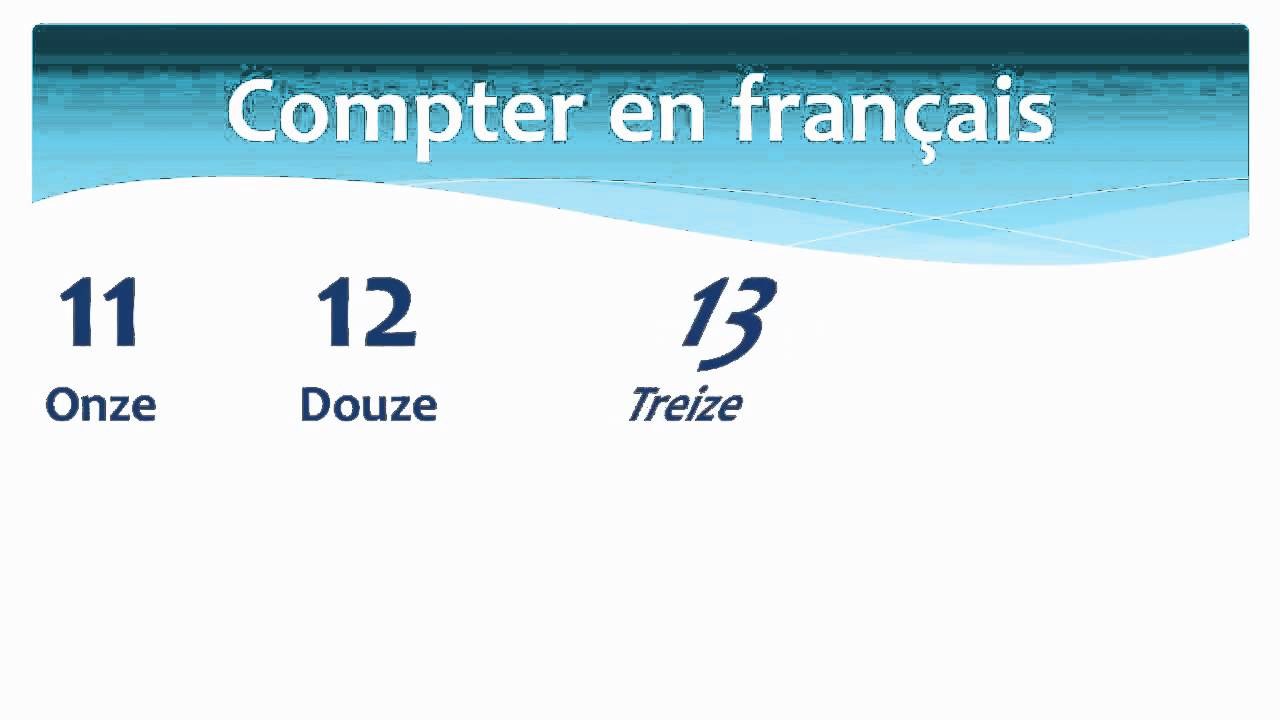 counting in french from