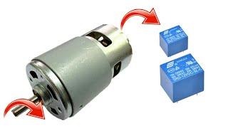 Dc motor speed controller forward reverse using relay