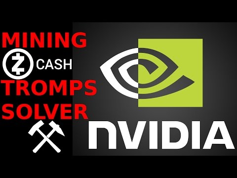 NVidia GTX 980ti ZCash GPU Mining Tromps Solver / EXTremals ZEC Miner CoinsForAll.io Pool