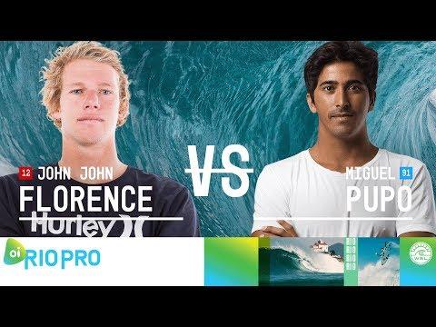John John Florence vs. Miguel Pupo - Round Three, Heat 12 - Oi Rio Pro 2018