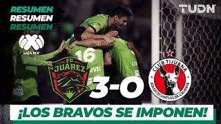 Resumen y Goles | Juárez 3 - 0 Tijuana | Liga MX - Apertura 2019  - Jornada 17 | TUDN