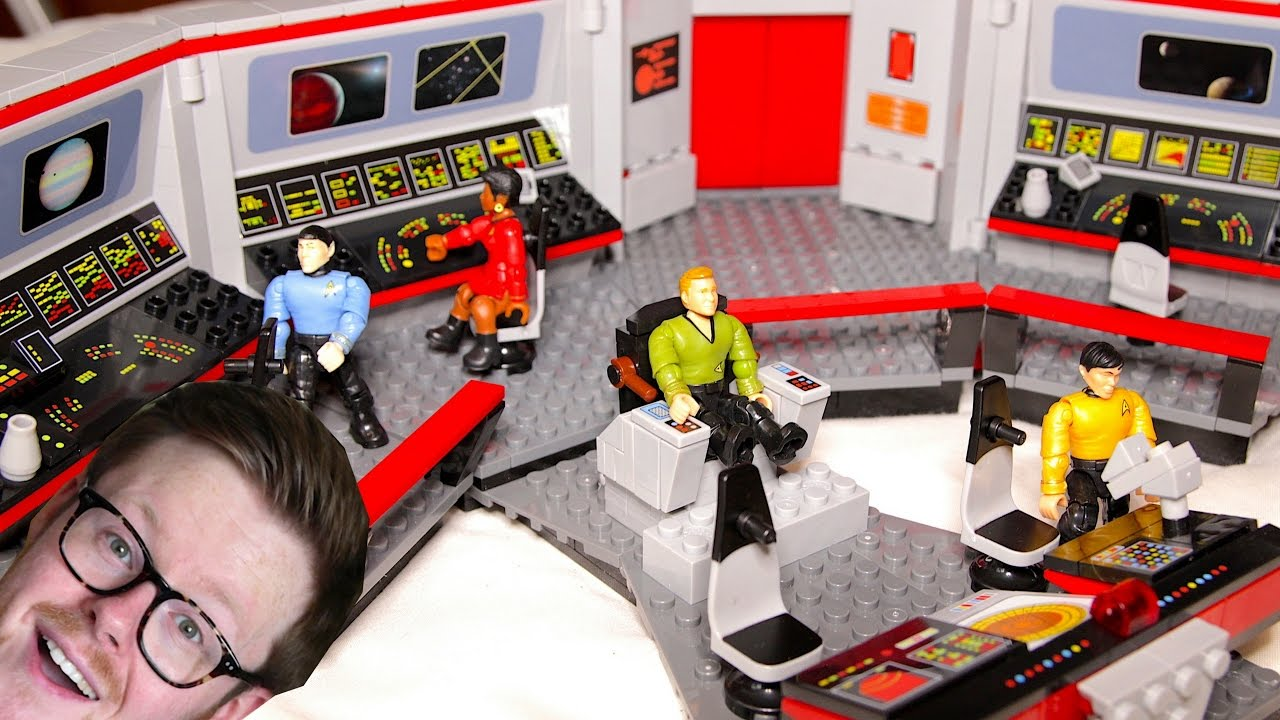 4k Time Lapse Build Of Mega Bloks Star Trek The Original Series