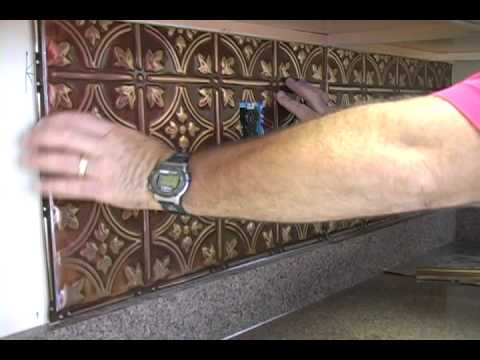 installing a kitchen backsplash youtube - Kitchen Metal Backsplash