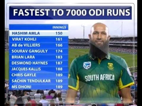 Hashim Amla Celebrated 7000 Runs in ODI's