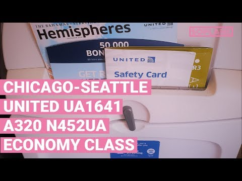 UNITED A320 Economy Class Chicago to Seattle