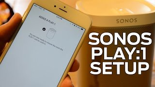 How to set up Sonos Play:1 wireless speaker