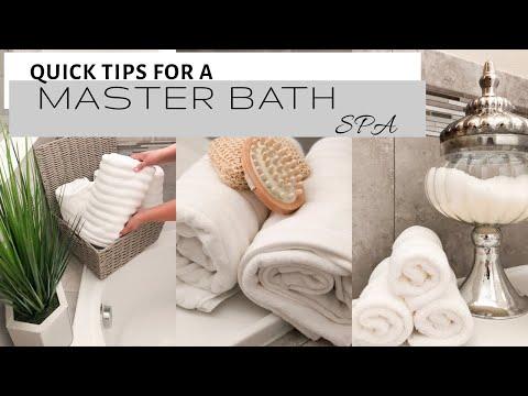 MASTER BATH DECOR   QUICK DESIGN TIPS   SPA INSPIRED