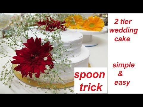 wedding-cake-for-beginners-|-2-tier-cake-for-beginners-|-simple-&-easy