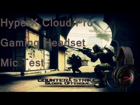 HyperX Cloud Pro Gaming Headset Mic Test (CS GO)