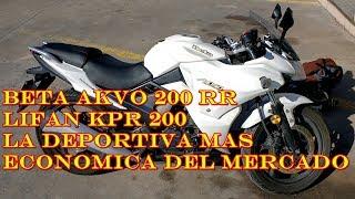Review honesto beta akvo 200 rr rodada y humor,Lifan kpr200