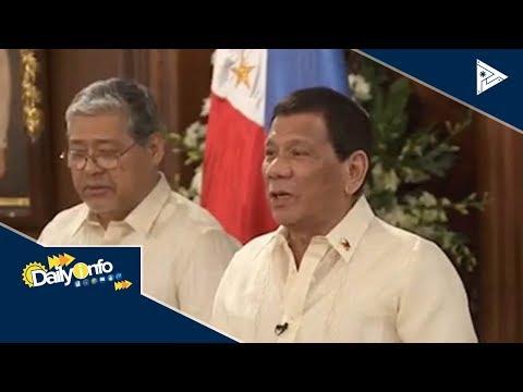 Pres. #Duterte, humingi ng payo sa Singapore ukol sa water supply