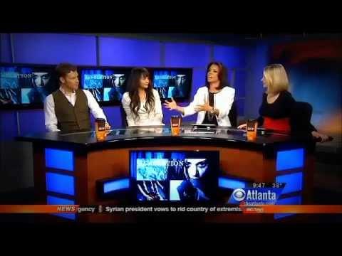 Joseph Morgan & Persia White in the CBS Atlanta REVELATION