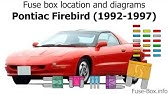 Fuse Box Location And Diagrams Pontiac Firebird 1998 2002 Youtube