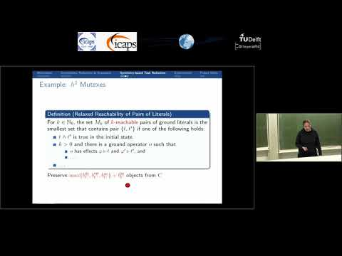 """ICAPS 2018: Gabriele Röger on """"Symmetry-Based Task Reduction for Relaxed Reachability Analysis"""""""