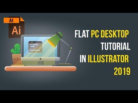 Flat PC Desktop Tutorial in Illustrator 2019 thumbnail