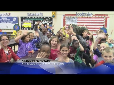 Rob's Weather 101 with 4th graders from Spann Elementary School