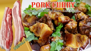 COOKING PORK CURRY IN MY VILLAGE | HOWTO COOK PORK CURRY RECIPE IN VILLAGE STYLE |PORK RECIPE INDIAN
