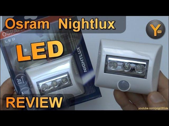 Osram Nightlux Led Lampe Mit Bewegungsmelder Und Aaa Batterien