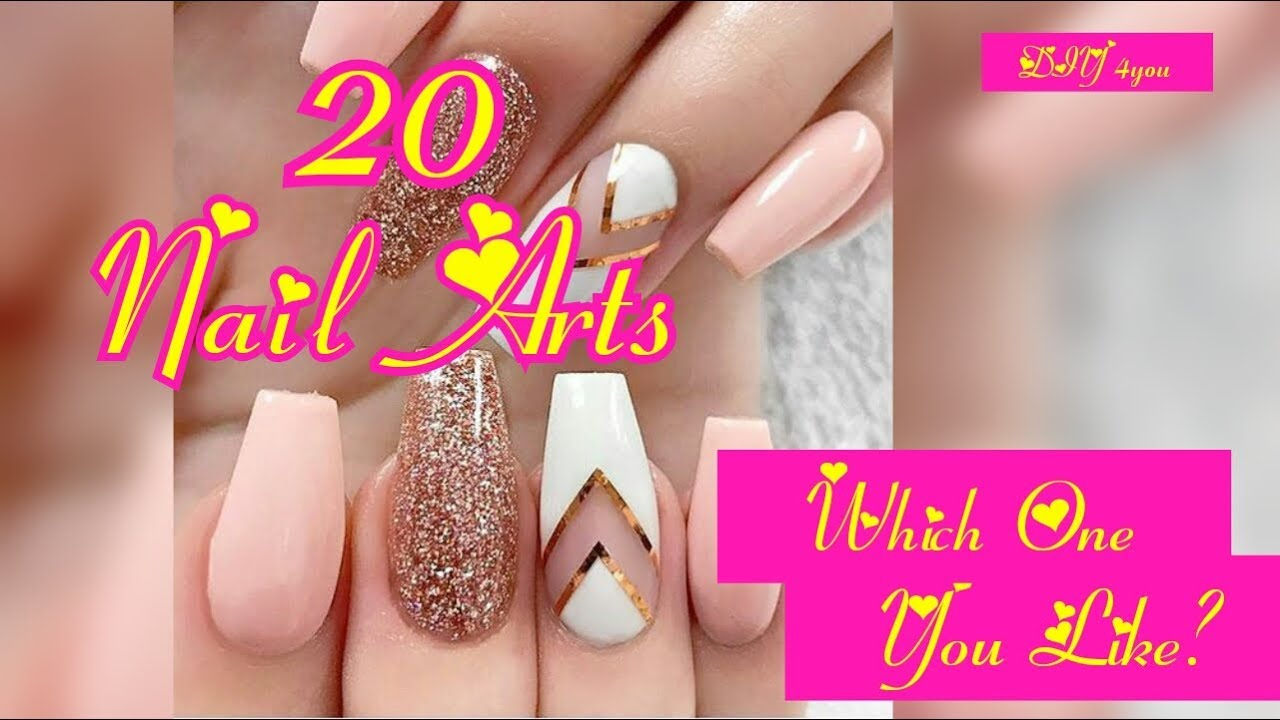 DIY NAIL ART PROJECT WITH 20 EASY NAIL ART DESIGN. HOW TO PAINT YOUR ...