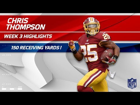 From RB to WR: Chris Thompson's 150 Receiving Yards! | Raiders vs. Redskins | Wk 3 Player Highlights