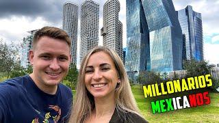AQUÍ VIVEN los MILLONARIOS de MÉXICO | RUSOS REACCIONAN a CIUDAD MILLONARIA MEXICANA SANTA FE CDMX