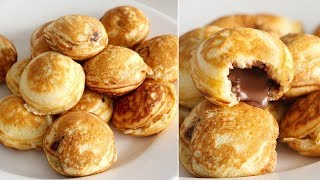 DIY Pancake Pockets WITHOUT the Pan! | Nutella-Stuffed Pancakes | EASY Ebelskiver Recipe