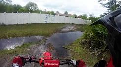 Poinciana FL flooded trails