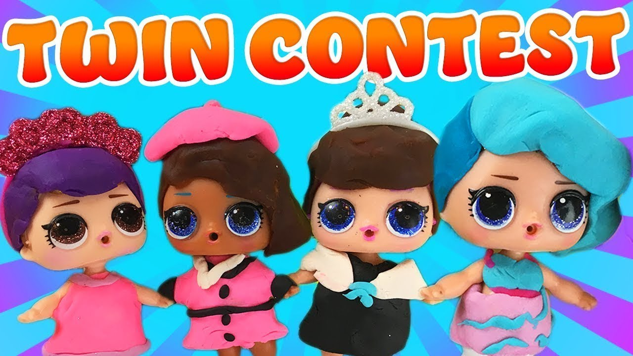 Lol Surprise Dolls Play Doh Twin Contest With Splash